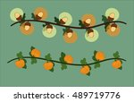 illustration of two garlands of ... | Shutterstock .eps vector #489719776