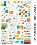 set of infographics flat design ...   Shutterstock .eps vector #489720658