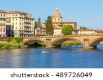 Sculling Boat On The River Arno ...