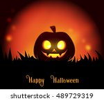 happy halloween background | Shutterstock . vector #489729319