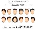 set of unique avatars of...   Shutterstock .eps vector #489731839