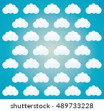 clouds background. weather sky... | Shutterstock .eps vector #489733228