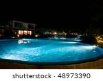 A Pretty Swimming Pool In Night ...