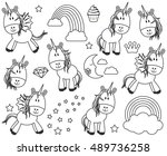 cute vector collection of... | Shutterstock .eps vector #489736258