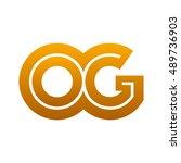 letter o g logo | Shutterstock .eps vector #489736903