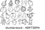 vegetables and fruit vector | Shutterstock .eps vector #48973894