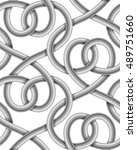 braided cable vector seamless... | Shutterstock .eps vector #489751660