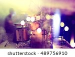 live music and concert.drum and ... | Shutterstock . vector #489756910