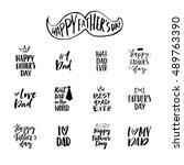 vector typography design.... | Shutterstock .eps vector #489763390