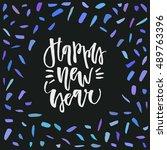 abstract vector christmas card... | Shutterstock .eps vector #489763396