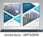 front and back page brochure... | Shutterstock .eps vector #489763858