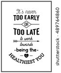 Health Quote. Typographical...
