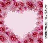 roses. flower watercolor...   Shutterstock . vector #489766999