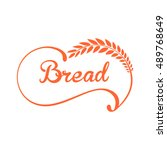 bread logo. | Shutterstock .eps vector #489768649