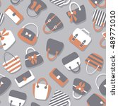 woman bags seamless pattern....   Shutterstock .eps vector #489771010