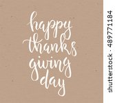 pumpkin pie. thanksgiving day... | Shutterstock .eps vector #489771184