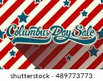 columbus day sale hand drawn... | Shutterstock .eps vector #489773773