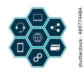 omni channel icon design. e...   Shutterstock .eps vector #489774484