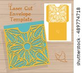 lazercut vector wedding... | Shutterstock .eps vector #489774718