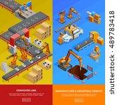 manufacture robots in... | Shutterstock .eps vector #489783418
