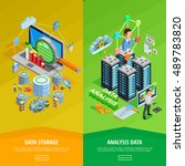 big data storage and analysis... | Shutterstock .eps vector #489783820