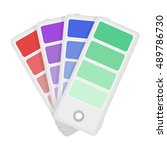 color swatches icon in cartoon