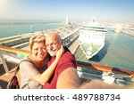senior happy couple taking... | Shutterstock . vector #489788734