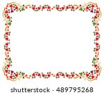 autumn horizontal frame with... | Shutterstock .eps vector #489795268