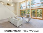 clean white room with floor to... | Shutterstock . vector #489799963