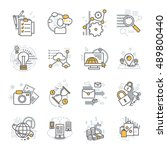 creative modern outline web... | Shutterstock .eps vector #489800440