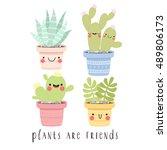 set of four illustrations of... | Shutterstock .eps vector #489806173