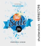 big sale flyer template design... | Shutterstock .eps vector #489807298