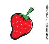 cartoon strawberry  vector... | Shutterstock .eps vector #489807388