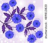 invitation or wedding card... | Shutterstock .eps vector #489813820