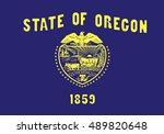 state of oregon flag    Shutterstock .eps vector #489820648