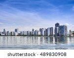 view of coast santos city in... | Shutterstock . vector #489830908