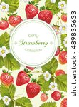 vector strawberry vertical... | Shutterstock .eps vector #489835633