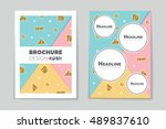abstract vector layout... | Shutterstock .eps vector #489837610