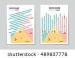 abstract vector layout... | Shutterstock .eps vector #489837778