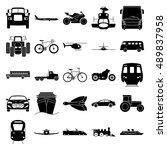 transport simple silhouette... | Shutterstock .eps vector #489837958