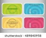 business card set template. ... | Shutterstock .eps vector #489840958