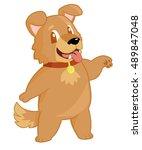 expressive dog character | Shutterstock .eps vector #489847048