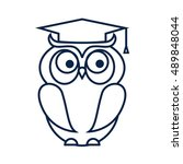 wise owl. university  school... | Shutterstock .eps vector #489848044