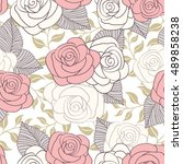 floral seamless pattern with... | Shutterstock .eps vector #489858238