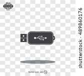 vector usb flash drive icon | Shutterstock .eps vector #489860176