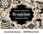 traditional breakfast.... | Shutterstock .eps vector #489861010