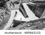 famous passo dello stelvio road ... | Shutterstock . vector #489863110