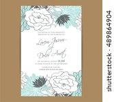 vintage delicate invitation... | Shutterstock .eps vector #489864904