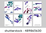 abstract background design with ... | Shutterstock .eps vector #489865630