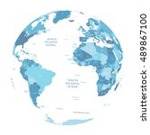 vector earth globe  | Shutterstock .eps vector #489867100